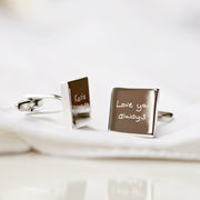 Engraved Own Actual Handwriting Cufflinks - Wear We Met