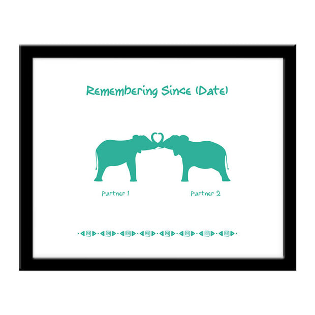 Elephant Couples Print