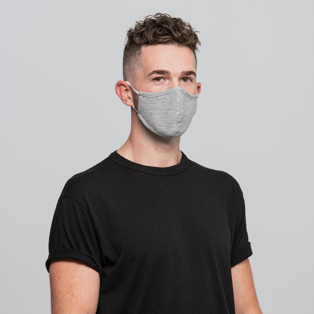 Set of 2 Reusable Masks - Heather Grey