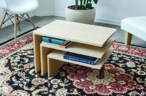 Three Tier Coffee Table - [home-sweet-abode] home decor, decor, furniture, area rugs, rugs, macrame, indoor plants, house plants, curtains