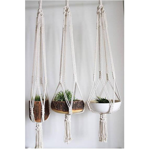 Large Macramé Hanger - [home-sweet-abode] home decor, decor, furniture, area rugs, rugs, macrame, indoor plants, house plants, curtains