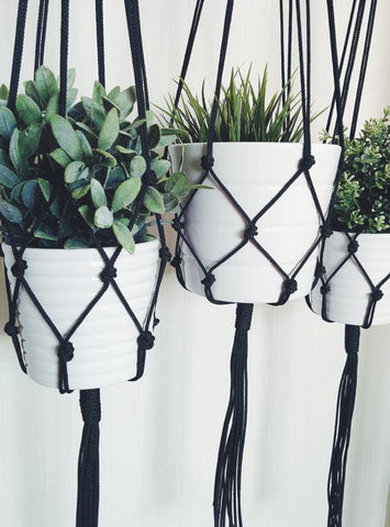 Macramé Planter Hanger - [home-sweet-abode] home decor, decor, furniture, area rugs, rugs, macrame, indoor plants, house plants, curtains