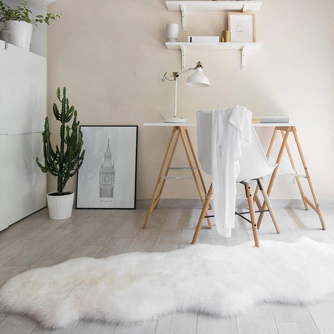 Sheepskin Rug - [home-sweet-abode] home decor, decor, furniture, area rugs, rugs, macrame, indoor plants, house plants, curtains