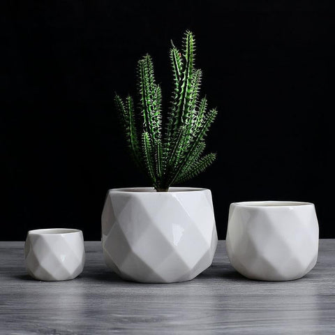 Geometric Flowerpot - [home-sweet-abode] home decor, decor, furniture, area rugs, rugs, macrame, indoor plants, house plants, curtains