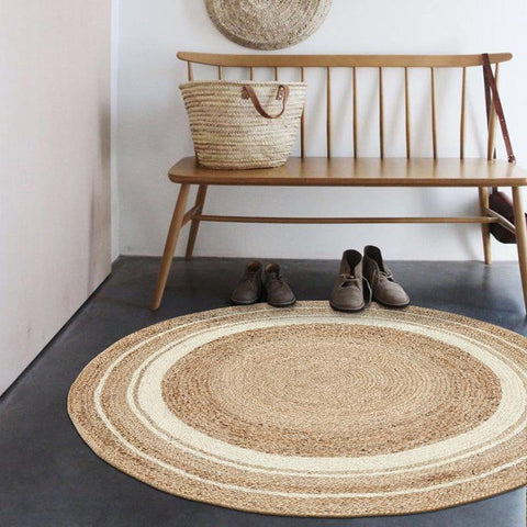 Round Jute Rug - [home-sweet-abode] home decor, decor, furniture, area rugs, rugs, macrame, indoor plants, house plants, curtains