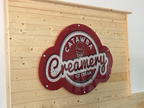 Catawba Creamery Interior Sign