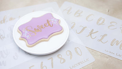How To Do Wet on Wet Flooding Technique and Use Stencil Template on Decorated Cookies