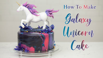 How to Make A Unicorn Cake | Galaxy Themed