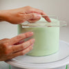 Lacupella Acrylic Transparent Fondant Smoother with Round Tip