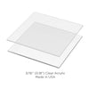 Lacupella Acrylic Square Cake Disk Set with 12 inch Scraper Essential Combo Kit And Round Level