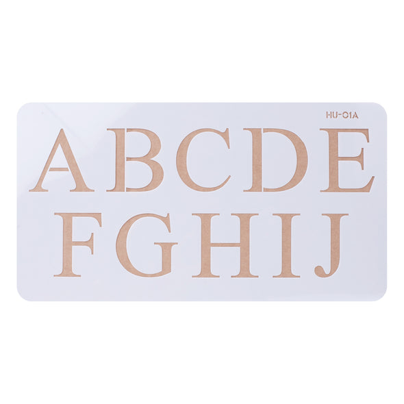 Lacupella Cake Alphabet Letter Number Acrylic Stencils 2 Inch Times New Roman Set of 4