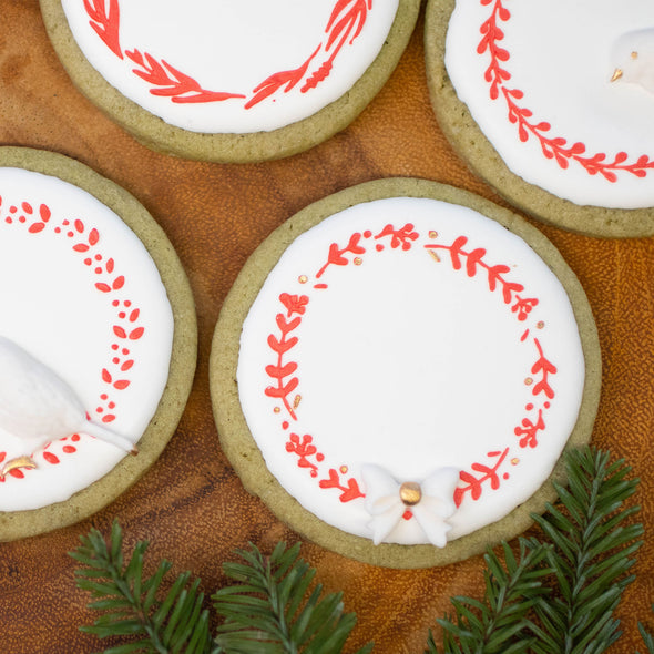 10 pieces Wreath Cookie Stencil Set for Baking Decorating Craft Monogram Wedding and Birthday Party