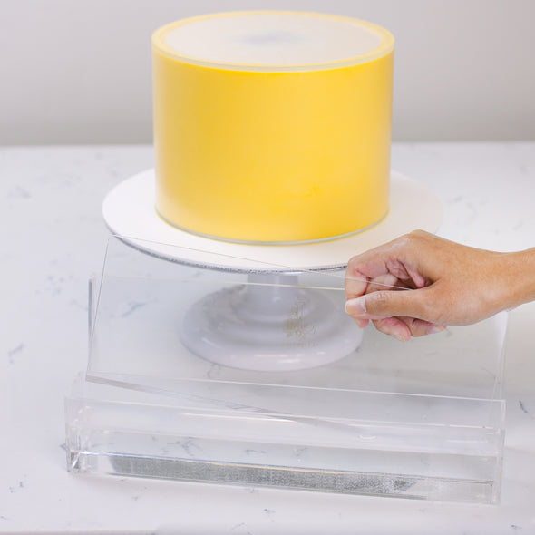 Lacupella Cake Acrylic Warmer Holder for Scraper Smoother and Comb