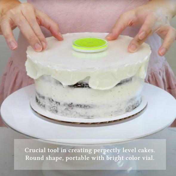Lacupella Acrylic Cake Disk Set with 12 inch Scraper Essential Kit and Round Level