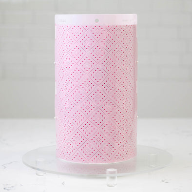 Lacupella Cake Stencil - Seamless Delicate Pattern For Tall Double Barrel Cake - DIADOT