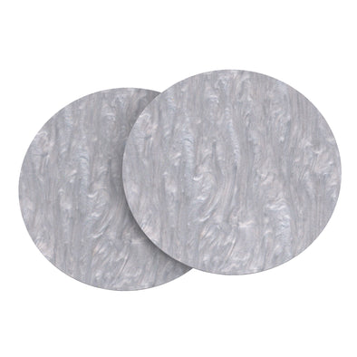 "Gray Marble Acrylic Round Disk Set of 2-1/8 or 0.12"" thick for Cake Serving and Reusable Cake Board"
