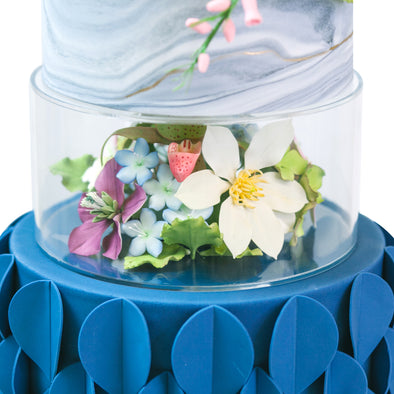 Lacupella Acrylic  Fillable Cake Pillar Stand, Raiser and Enhancer for Cake Display