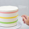 Lacupella 12 inch Two Tone Stripe Contour Cake Comb Set of 3 SET C