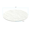 "White Marble Acrylic Round Disk Set of 2-1/8 or 0.12"" thick for Cake Serving and Reusable Cake Board"