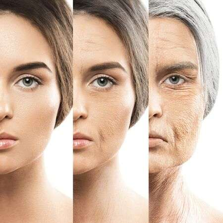 image of a woman at different age stages, blog post pro-aging movement