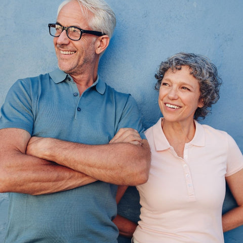image of older couple smiling healthy looking