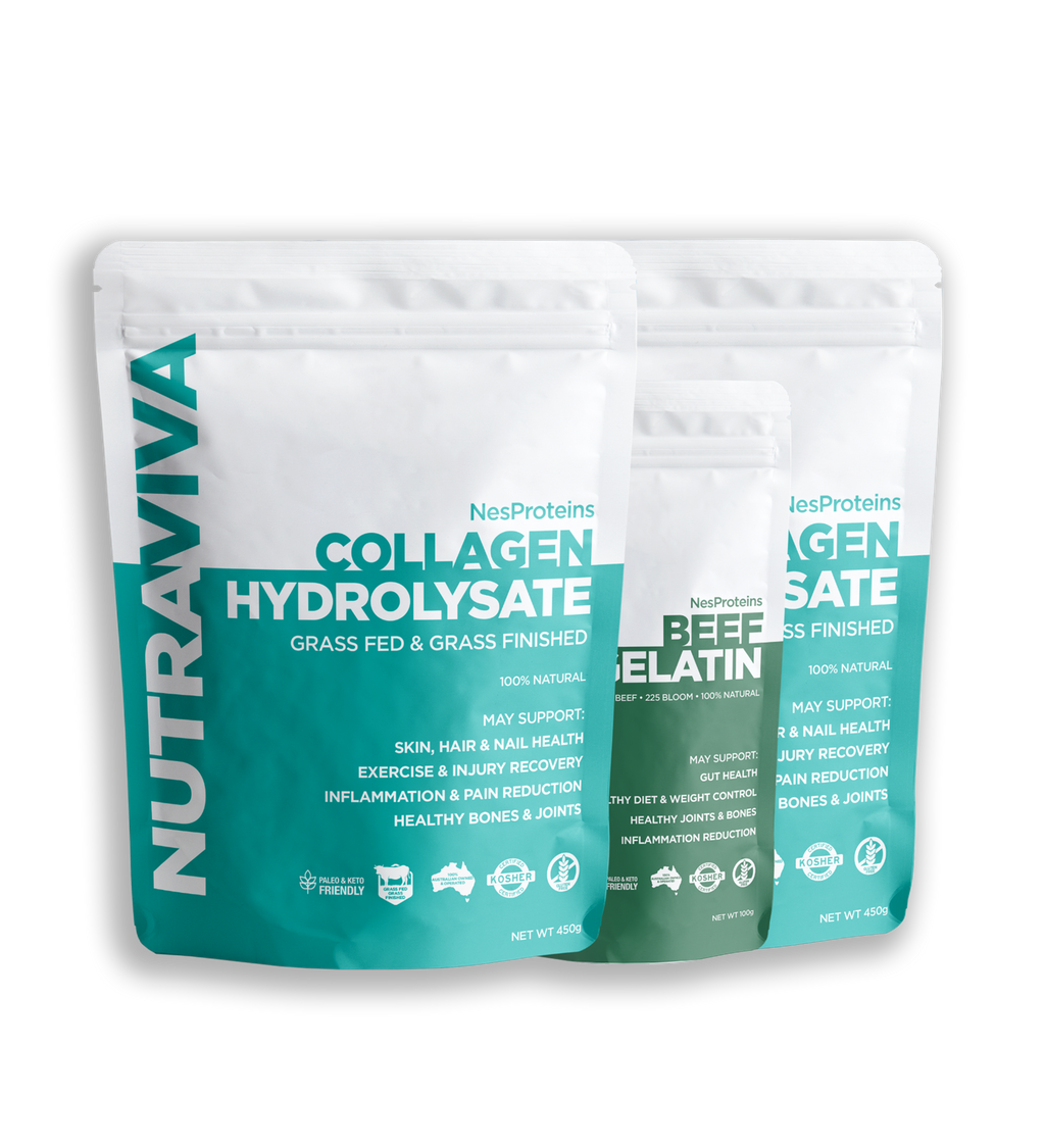 Collagen 450g x 2 + Bonus Gelatin 100g