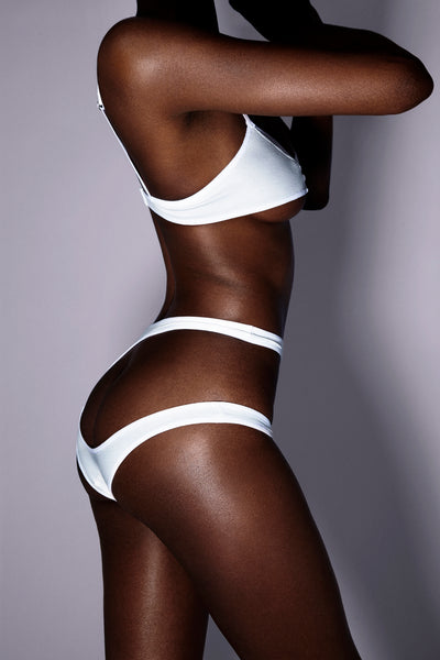 High Waist Brief In White