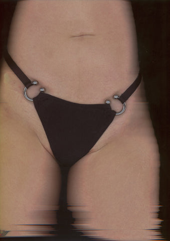 Toxic Adjustable Thong In Black