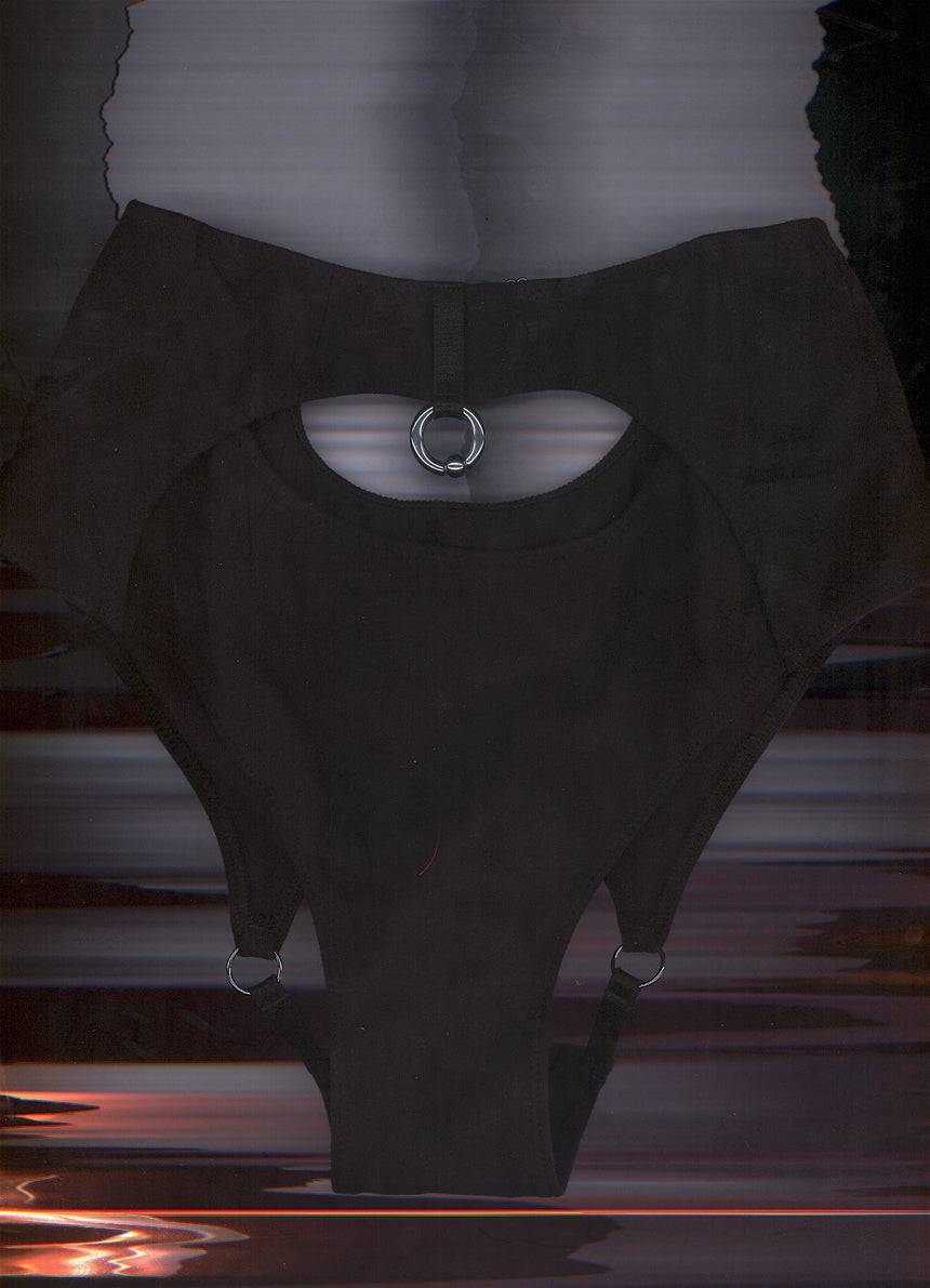 LET GO HIGH WAIST BACKLESS BRIEFS IN BLACK