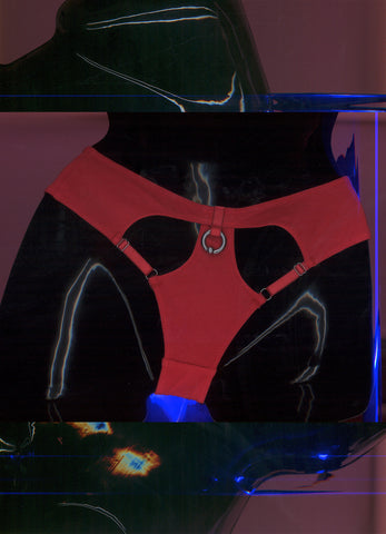 WITH YOU BRIEFS IN RED