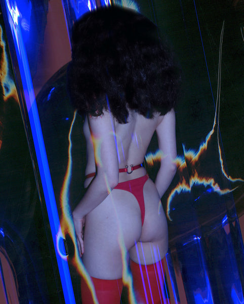 NAKED HIGH WAIST THONG IN RED