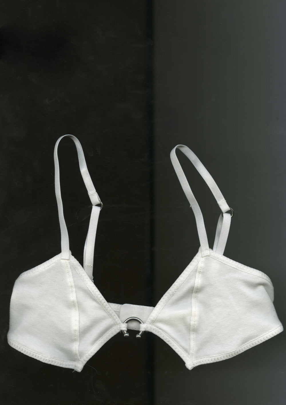 Circular Barbell Softcup Bra In White