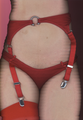 A Taste For Terror Garter Belt In Red