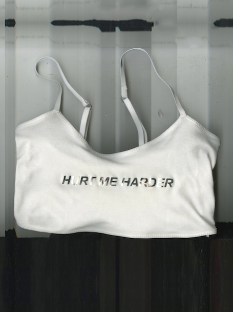 Hurt Me Harder Crop Top In White