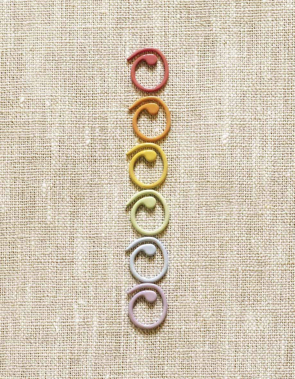 Cocoknits Coloured Split Ring Stitch Markers