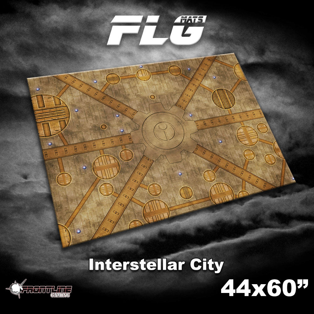 Frontline Gaming 44x60 Gaming Mat - Interstellar City | Ettin Games