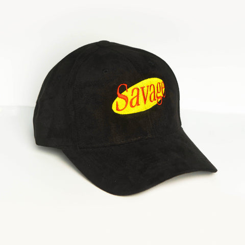 Black Suede Savage Cap
