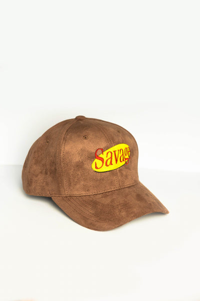 Brown Suede Savage Cap