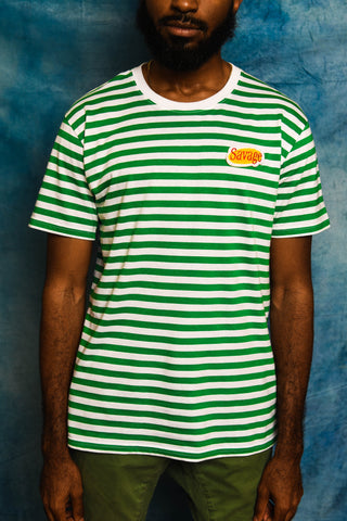 Green Savage Patch Kids Tee