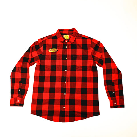 Eating With Wolves Red Savage Flannel