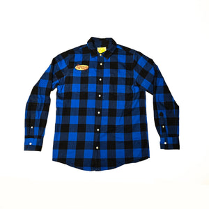 Eating With Wolves Blue Savage Flannel