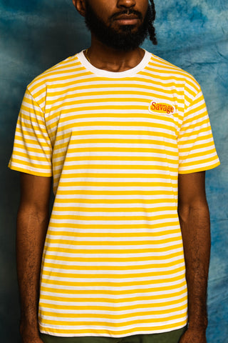Yellow Savage Patch Kids Tee