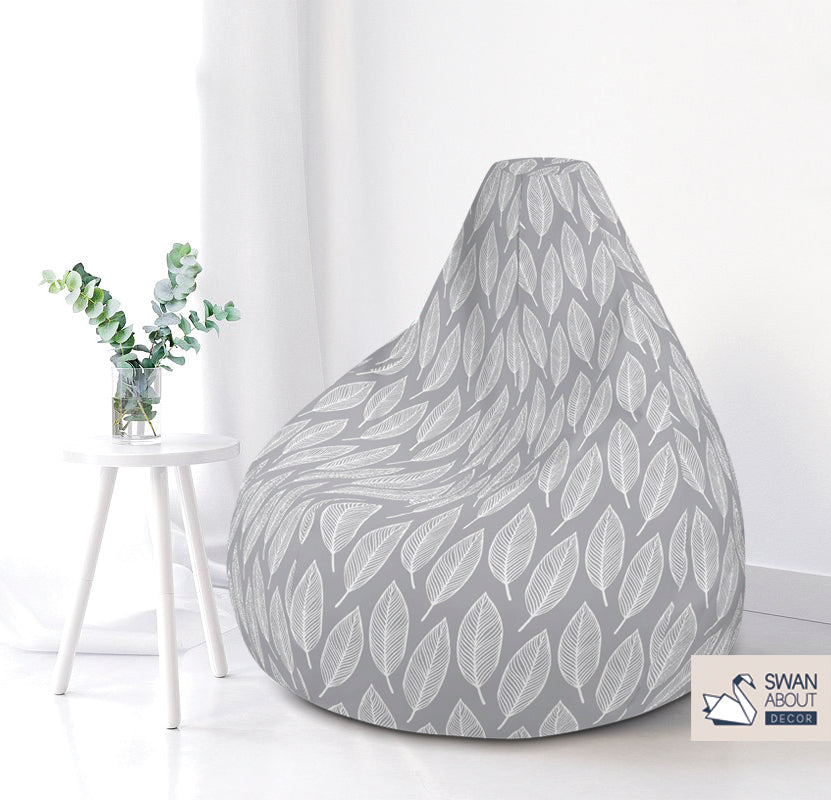 Leaf print Bean bag  COVER ONLY (no filling)