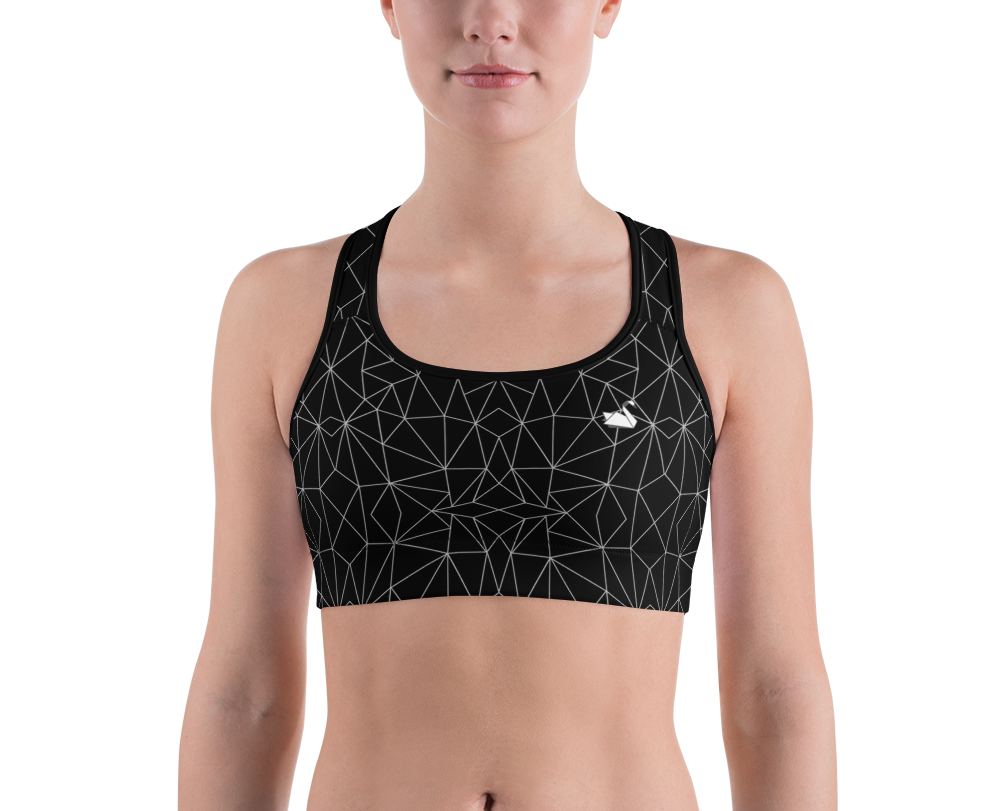 SPORTS BRA TOP - Geometric pattern