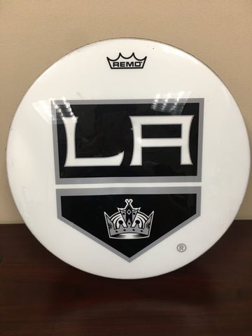 Game-Used LA Kings Logo Drum
