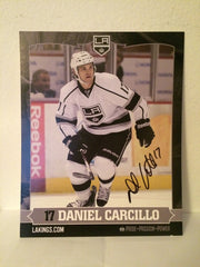 Daniel Carcillo Autographed  8 x 10 Player Card