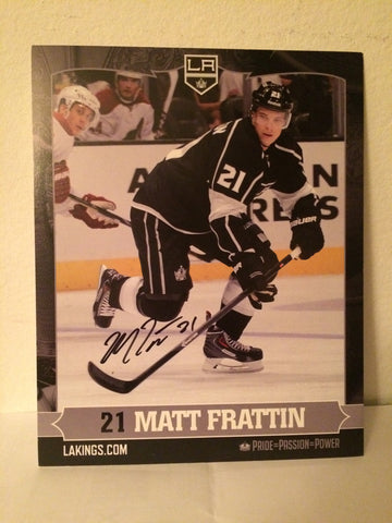 Matt Frattin Autographed  8 x 10 Player Card