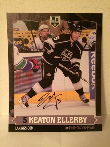 Keaton Ellerby Autographed  8 x 10 Player Card