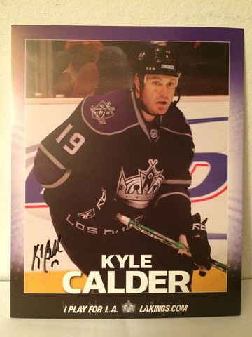 Kyle Calder Autographed  8 x 10 Player Card