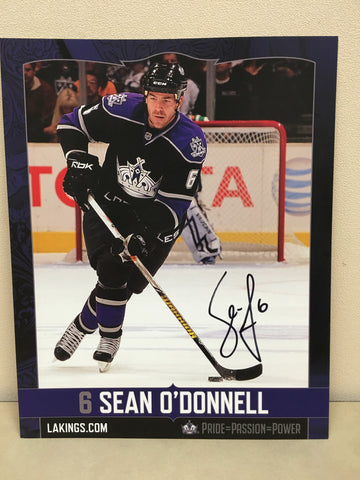 Sean O'Donnell Autographed  8 x 10 Player Card